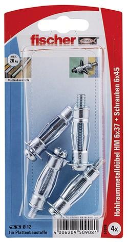 Hohlraum-Metalldübel HM 6x37 S K (4)