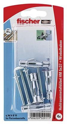 Hohlraum-Metalldübel HM 5x37 H K (4)