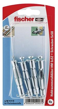 Hohlraum-Metalldübel HM 5x52 S K (4)